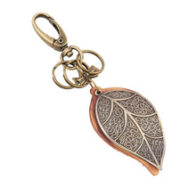 Originality Gift Automobile Buckle Restore Ancient Ways PUNK Bronze Will Leaf Genuine Leather Key Buckle Ma'am Backpack Pendant