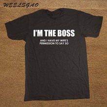 I'm The Boss Funny Mens T Shirt Husband Wife Rules Novelty Gift Idea Birthday(China)