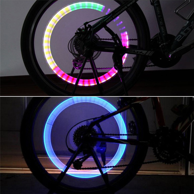 Led-Hub-Light Car-Accessories Bicycle Motorcycle-Tire-Valve Flash Waterproof Bonnet Colorful title=