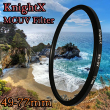 KnightX 49mm 52mm 58MM 62mm 77MM MC uv filter 67mm Lens Filter UV for Nikon d750 700d d70 d90 for canon 1200d d3200 d3300 d5200(China)
