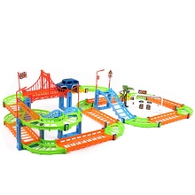 Two-layer Spiral Track Roller Coaster Toy Electric Rail Car for Kids Child Gifts Hot Wheels Brinquedos Menino Lada(China)