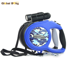 New Arrival 8M LED Lights ABS Labrador Retriever BullDog Lead Pet Products Automatic Retractable Medium Big Dog Leashes(China)