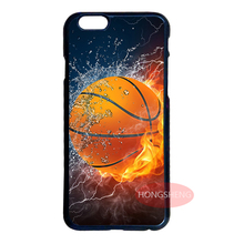 New Basketball In Water And Fire Cover Case for Samsung Galaxy S3 S4 S5 Mini S6 S7 Edge Note 2 3 iPhone 4 4S 5 5S 5C 6 Plus iPod