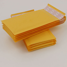 (150*90MM) 10pcs/lot Yellow kraft Bubble Envelope Mailing Bags Shockproof Anti Pressure Packaging Courier Bags