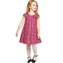 2017 Spring Autumn Cute Kid Baby Girl Summer Dresses Flower Lace Princess Dress Fashion Sundress
