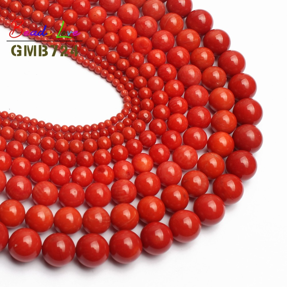 Beads & Jewelry Making Beads Wbl High Quality Natural Stone Dark Red Coral Beads Round Loose Beads 4mm 6mm 8mm 10mm For Diy Bracelet Necklace Jewelry Making Ideal Gift For All Occasions