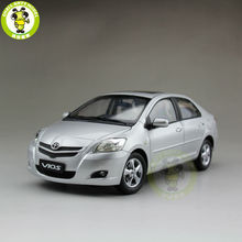 1:18 Toyota Vios 2008 Diecast Car Model Silver Color