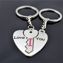 Free Shipping 1Pair Novel Couples Heart Lock Keychain Wedding Favors And Gifts Souvenirs Wedding Decoration Supplies