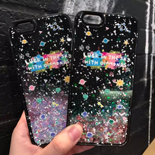 New Fashion Liquid Glitter meteor sand sequins Colorful Dynamic Starry sky Hard Mobile Phone Cases For iphone 6 6S plus 7 7plus