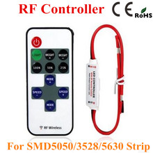1PC Mini RF LED Controller Single Color With Wireless Remote Control Mini Dimmer for 5050 / 3528 Led Strip Lights 5-24V(China)