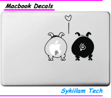 In Love Black and White Pig Ass Cartoon Sticker for Apple Macbook Skin Air 11 13 Pro 13 15 17 Retina Laptop Car Wall Vinyl Decal