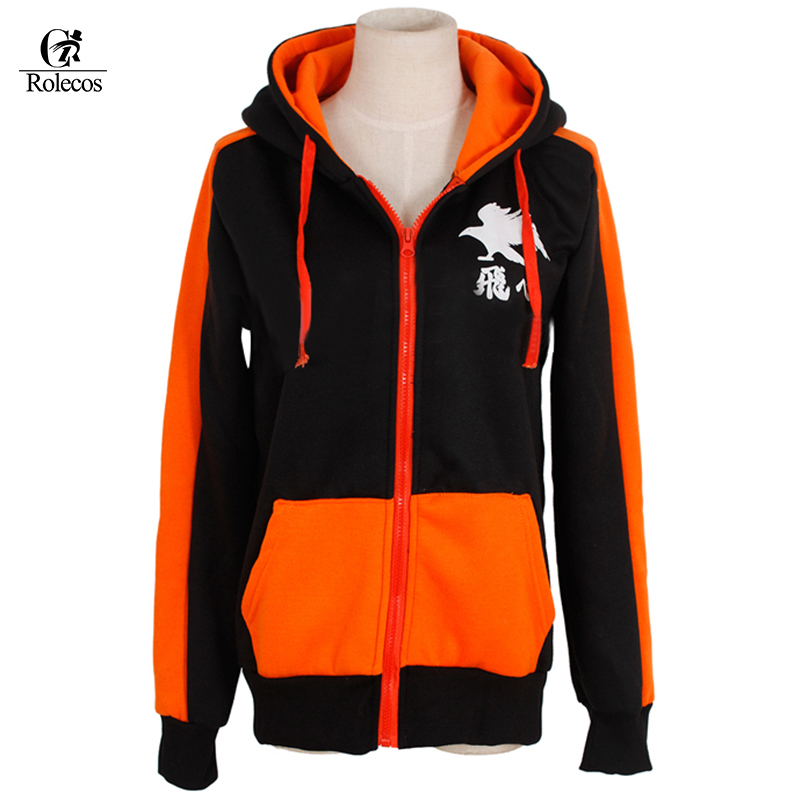 Haikyuu Hoodies tops Karasuno High School Club Sweatshirts Costume coat jacket