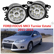 for FORD FOCUS III Turnier 2011-2015 modified front bumper LED fog lamps LED daytime running lights Yellow blue white 12V 1 set