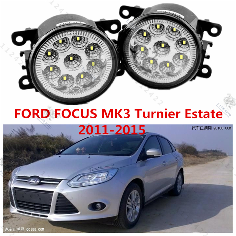 for FORD FOCUS III Turnier 2011-2015 modified front bumper LED fog lamps LED daytime running lights Yellow blue white 12V 1 set<br><br>Aliexpress
