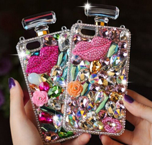 3D Cute Bling Crystal Perfume Bottle Back Case Cover For Samsung Galaxy S6 Edge S5 Note 3 Note 4 IPhone 6 7 Plus Phone Cases