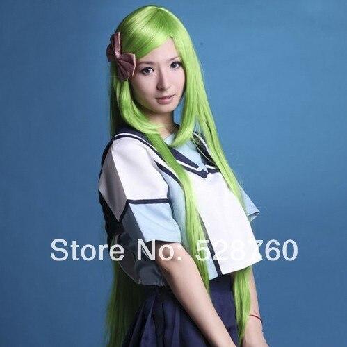 2014 New Arrival Cheap Cosplay Wigs Grass Green Long Wig Code Geass  Free Shipping<br><br>Aliexpress