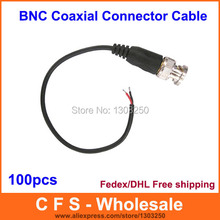 100pcs BNC connector with cable / BNC Patch Cord / waterproof twisted pair Transmitter cable DHL Free shippinng