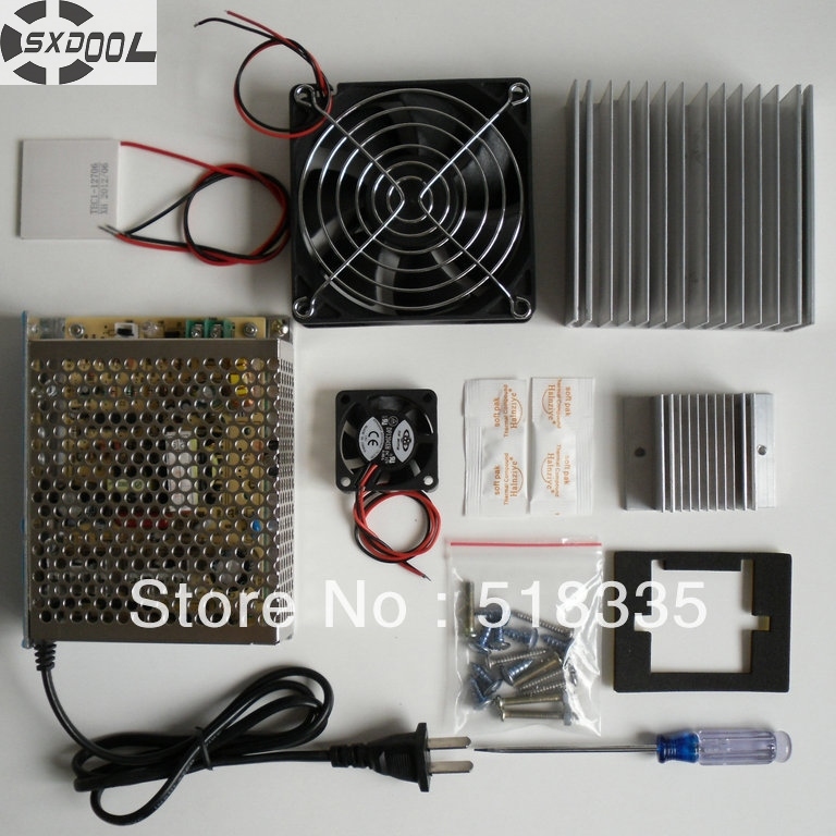SXDOOL Cooling!cooling system learning packages Thermoelectric Cooler Peltier TEC1-12706 Cold plate refrigeration learning kit<br>