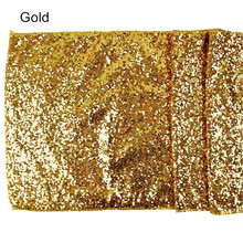 30*275cm Quality Solid Gold Sequin Table Runners For Vintage Wedding Sparkle Table Party Decorations(China)