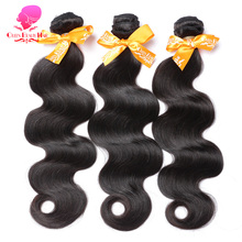 QUEEN BEAUTY HAIR Malaysian Body Wave Bundles Remy Human Hair Weft 1 Piece Natural Color Hair Weave Free Shipping
