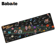 Babaite Comics wallpaper 900x400 MM Large Mouse Pad Notbook Computer keyboard pad Mouse Anti-slip Natural Rubber Mousepad(China)