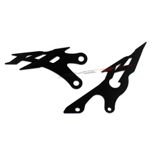 For YAMAHA YZFR1 YZF-R1 2009 2010 2011 2012 2013 2014 Black Foot Peg Heel Plates Guard Protector Motorcycle Accessories