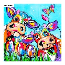 Crafts Diamond Embroidery Cow tulip Diy Full Diamond Painting Kit for Square Drill Rhinestone Pasted Unfinish Room Decor BSA135(China)
