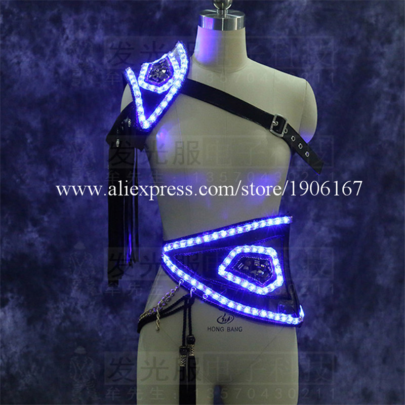 Led Luminous sexy men stage show clothes props01