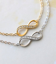 Min 1PC Famous Infinity Bracelet Bridesmaid Gift Friendship BFF Bracelet Wedding Bracelet Jewelry Maid of Honor Gift Gift Ideas(China)