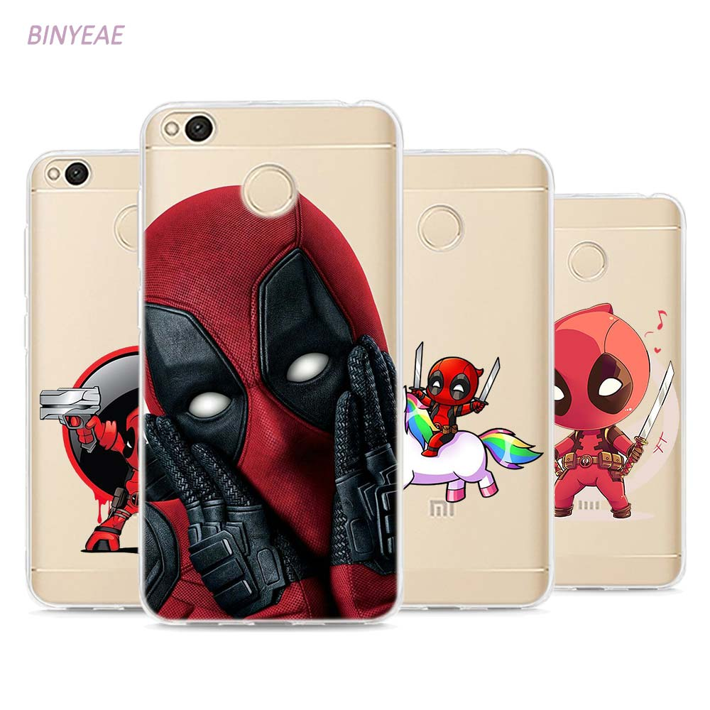 BINYEAE Deadpool Style TPU Soft Phone Case Cover Xiaomi Mi Redmi Note A1 3 4 4X 4A 5A 5 Plus