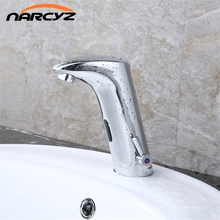 Free Shipping Cheap Brass Automatic Auto Touch free Sensor Faucet basin faucet XR8802(China)