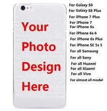 100pcs/lot* Customized DIY OEM Printing Hard Plastic / Soft TPU Case For iPhone X 8 7 Plus 6s 6 For Samsung Galaxy S8 / Note 8(China)