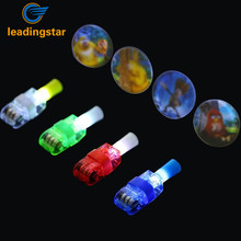 LeadingStar 100 Pcs 2 In 1 LED Finger Lights Projection Lamp Toys Creative Gift for Kids Random Color zk35(China)
