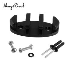 MagiDeal Black Zig Zag Anchor Cleat for Kayak Canoe Deck Marine Fishing Boat Replacement Screws And Nut Water Sports Accseeory(China)