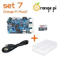 Orange Pi Plus 2 SET7: Pi Plus 2+ Power Cable + Transparent Acrylic Case +8GB Class 10 SD Card for Orange Pi Beyond Raspberry