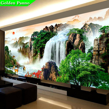 Golden Panno,Needlework,DIY Precision printing Landscape painting Cross stitch,rising sun Sets For Embroidery kits Cross-Stitch