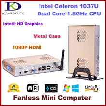 Fanless Thin Client PC, Mini Computer with Intel Celeron 1037U 1.8Ghz, 2GB RAM, 32GB SSD, WIFI, Full Screen Video