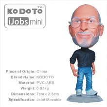 Kodoto Famous Man Resin 6.5 cm Steve Jobs World's Smallest Jobs Collections