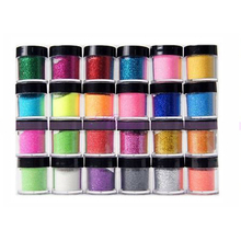 Nail Decor 24 Color Bling Glitter Powder Nail Art Dust Acrylic UV Manicure Decor Sets 2015 New Arrival Nail Art Powder Promotion(China)