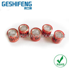 yoyo Aluminium with Plastic Pigeon Ring 8mm 100pc free shipping by express custom any color for racing pigeons