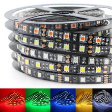 5M 5050 SMD RGB Color Changing LED Flexible Strip Ribbon Light Black PCB DC 12V for Home Garden Commercial Area Festival Decor