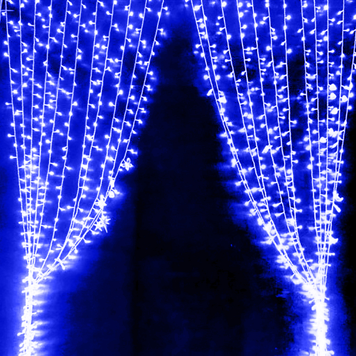 6 x 3M 600 LED Home Outdoor Holiday Christmas Decorative Wedding xmas String Fairy lights Curtain Garlands Strip Party Light P22<br>