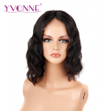 YVONNE Body Wave Short Lace Front BOB Wigs Brazilian Virgin Human Hair 180% Density With Baby Hair Natural Color Free Shipping(China)