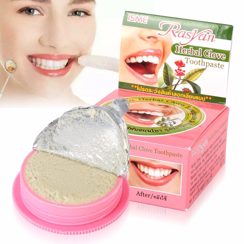 Teeth Beauty Makeups  HerbTeeth Whitening Natural Herbal toothpaste Amazing Thai toothpaste Strong Formula New 2018 1
