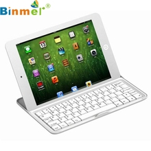 Binmer Mecall Aluminum Shell Wireless Bluetooth Keyboard Case Stand For Apple iPad Mini