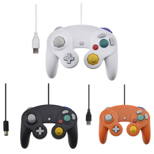 USB Wired Controller for Nintendo Gamecube Console Handheld For NGC Gamepad Control PC with GC Port For Wii Computer Joystick