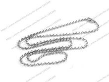 PATICO Free shipping 24Hours Nice 100PCS A Lot Cheap Metal necklace chains 1.5mm 18 inch necklace jewelry ball chain For Pendant