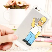 For iPhone X 8 7 6 6S Plus 5 5S SE Mickey Princess Unicorn Homer Simpsons Plastic Case