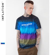 INF Men Tshirt Summer 2017 Tie Dye Streetwear Men T shirts Skateboard Tee Boy Skate Tshirt Fashion Casual Style(China)