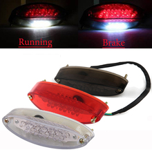 Qook Motorcycle Bike Rear Tail Stop Red Light Lamp for Honda Kawasaki Suzuki Yamaha Dirt Bike taillight rear lamp braking light